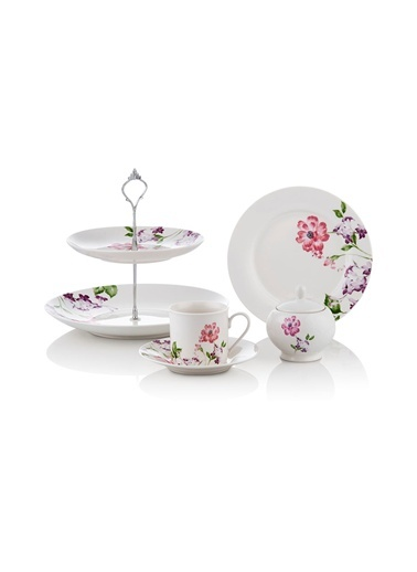 Porselen Buket Serisi 22P. Çay Seti-Noble Life